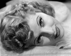 Lucille Ball Lying in Fur Fine Art Print
