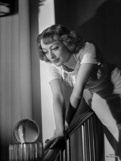 Joan Crawford Leaning on Railing Fine Art Print