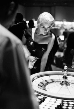 Jayne Mansfield Plays Roulette in Vegas Fine Art Print