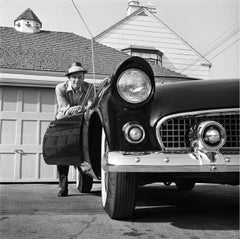 Frank Sinatra Leaning on T-Bird Fine Art Print