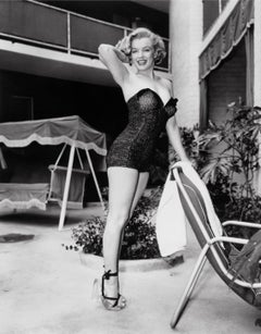 Marilyn Monroe Standing Poolside, Los Angeles