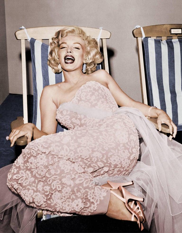 Marilyn Monroe in Deckchair, Colorized Fine Art Print