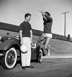 Donald O'Connor and Debbie Reynolds Mid-Jump