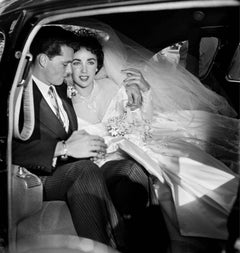 Elizabeth Taylor and Conrad Hilton on Their Wedding Day