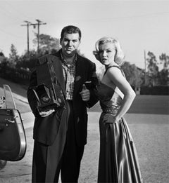 Marilyn Monroe Standing with Photographer