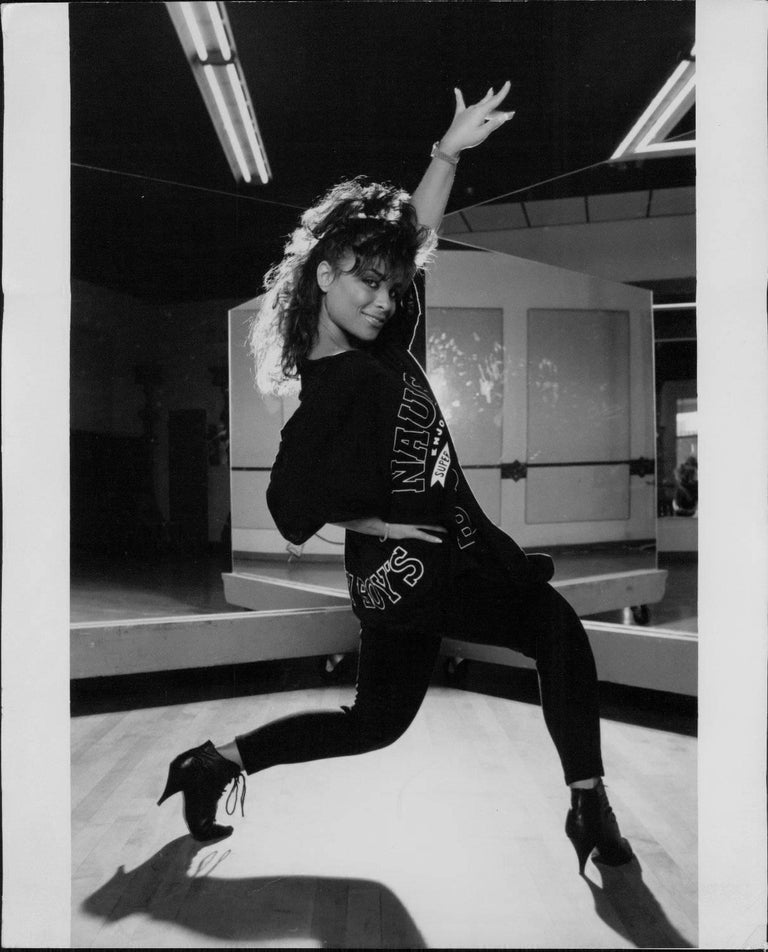 Neal Preston Black and White Photograph - Paula Abdul Dancing Vintge Original Photograph