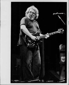 Jerry Garcia Performing Vintage Original Print