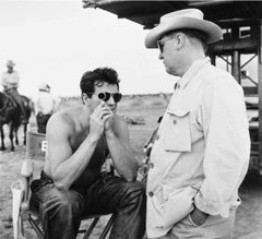 Rock Hudson and George Stevens on the Set of Giant Fine Art Print