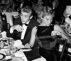 James Dean and Ursula Andress at Oscar Dinner Fine Art Print