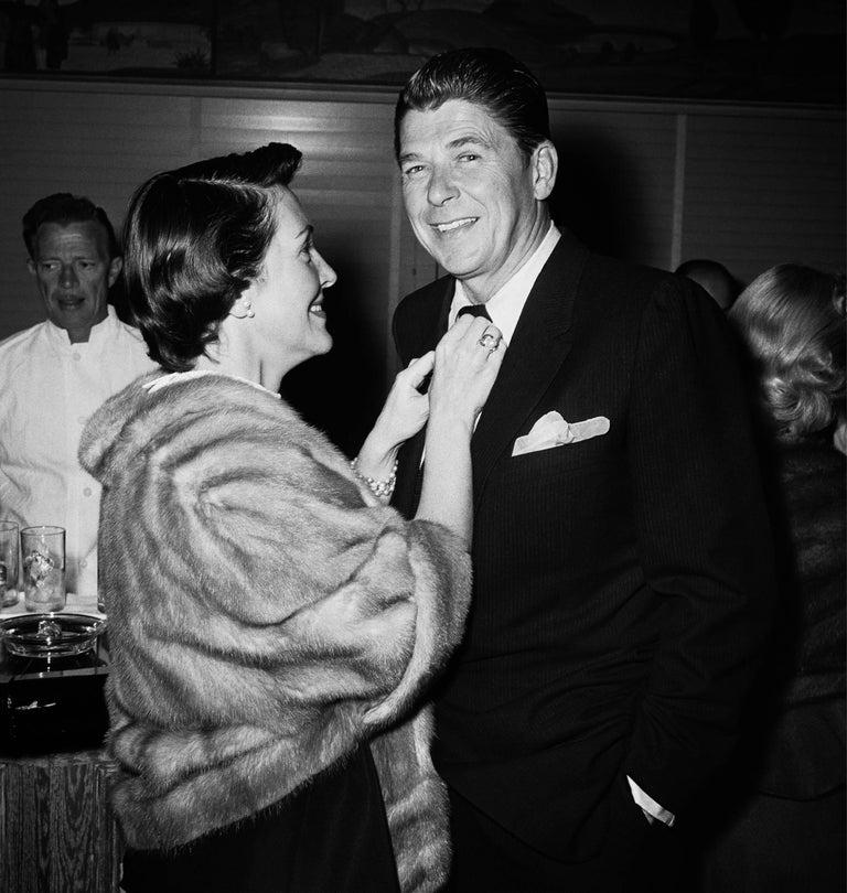 Frank Worth Black and White Photograph - Nancy and Ronald Reagan Fine Art Print