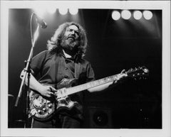 Jerry Garcia Closeup on Stage Vintage Original Photograph