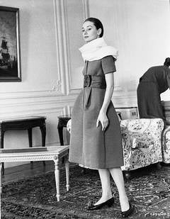 """Audrey Hepburn on the set of """"The Nun's Story"""""""