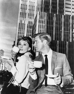 """Audrey Hepburn & George Peppard """"Breakfast at Tiffany's"""" Fine Art Print"""