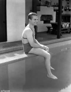 James Cagney Poolside Fine Art Print