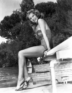 Rita Hayworth Poolside Fine Art Print