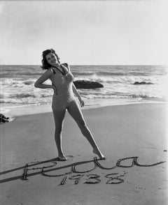 "Rita Hayworth ""Rita 1938"" on the Beach Fine Art Print"