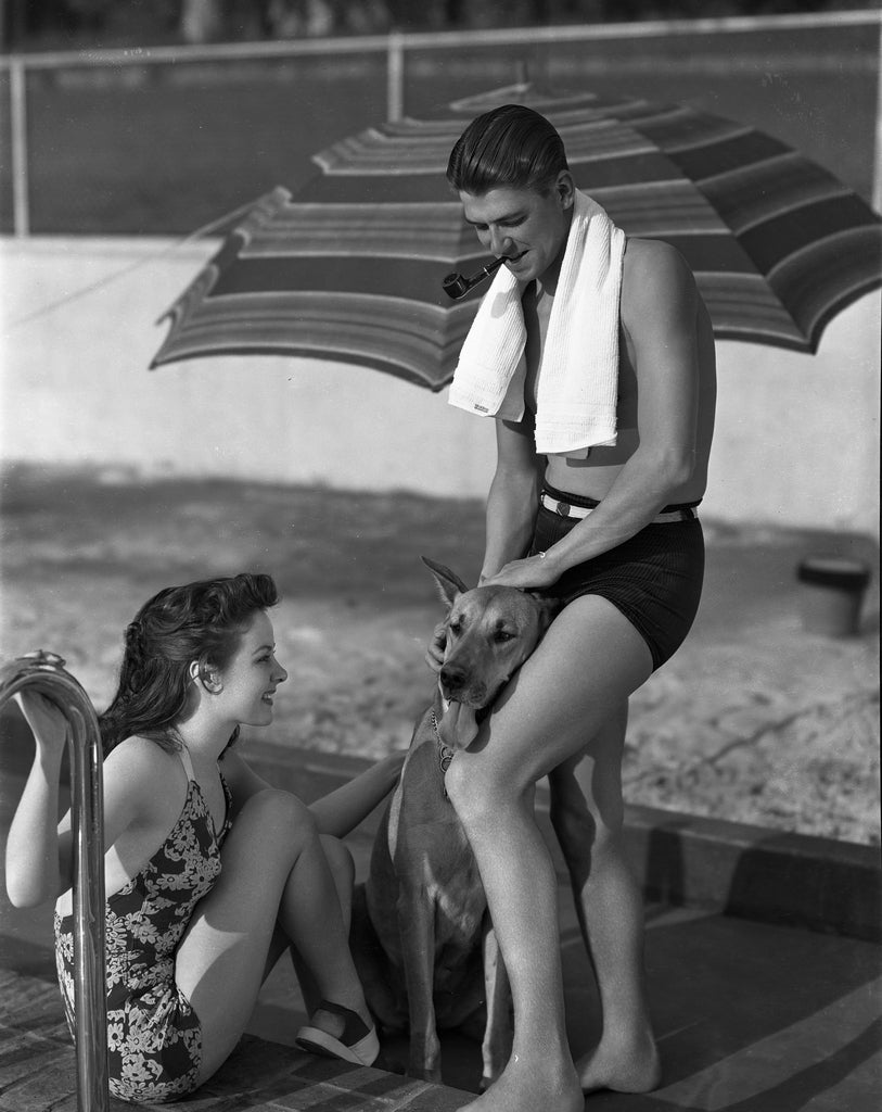 Unknown Black and White Photograph - Ronald Reagan at the Pool Fine Art Print