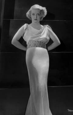 Bette Davis in White Dress Fine Art Print