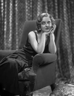 Bette Davis in Chair Fine Art Print