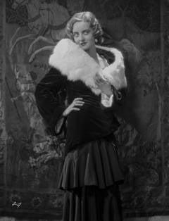 Bette Davis in Fur Stole Fine Art Print