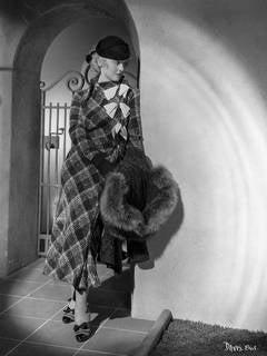 Bette Davis Leaning in Fur Fine Art Print