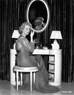 Bette Davis Getting Ready Backstage Fine Art Print