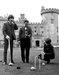 GEORGE HARRISON PLAYING CROQUET WITH JOHN LENNON