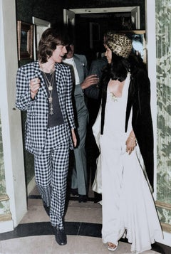 Mick Jagger and Bianca Jagger - Colorized Fine Art Print