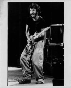 Bruce Springsteen Smiling on Stage Vintage Original Photograph