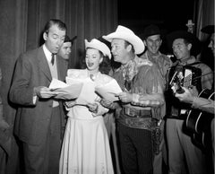 Jimmy Stewart, Dale Evans, and Roy Rogers Singing Fine Art Print