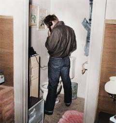 James Dean in Restroom - Colorized