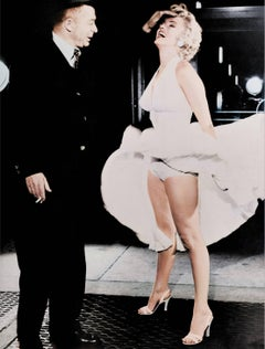 "Billy Wilder and Marilyn Monroe ""The Seven Year Itch"" - Colorized Fine Art Print"