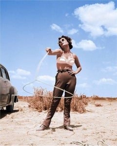 Elizabeth Taylor with Lasso - Colorized Fine Art Print