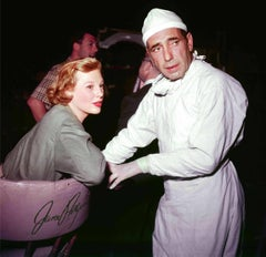 "Humphrey Bogart and June Allyson on Set of ""Battle Circus"" Fine Art Print"