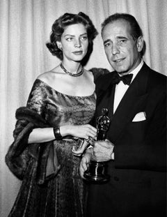 Lauren Bacall and Humphrey Bogart at the Oscars Fine Art Print