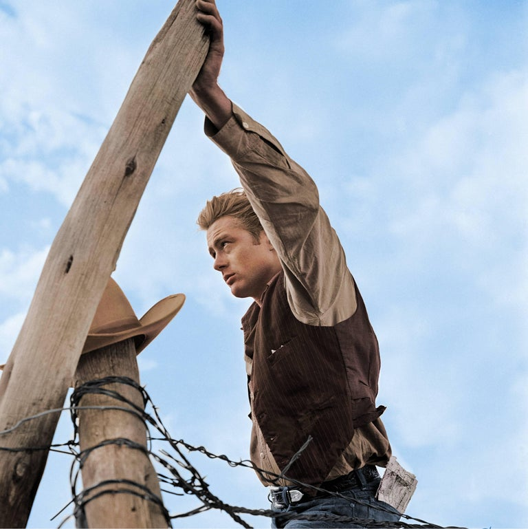 James Dean With Hand on Fence - Colorized Fine Art Print