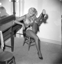 Sexy Barbara Nichols in Dressing Room Fine Art Print