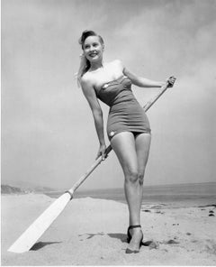 Barbara Stanwyk Pinup with Oar