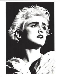 High Contrast Madonna Portrait Vintage Original Photograph