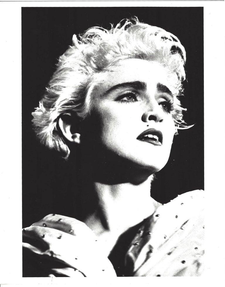 Unknown black and white photograph high contrast madonna portrait vintage original photograph