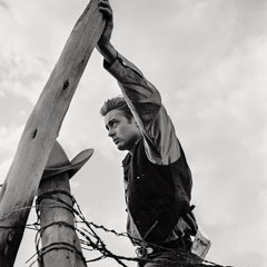 James Dean With Hand on Fence Fine Art Print