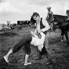 Elizabeth Taylor Flipping with James Dean Fine Art Print