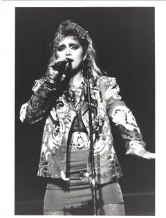 Madonna Singing into Mic Vintage Original Photograph