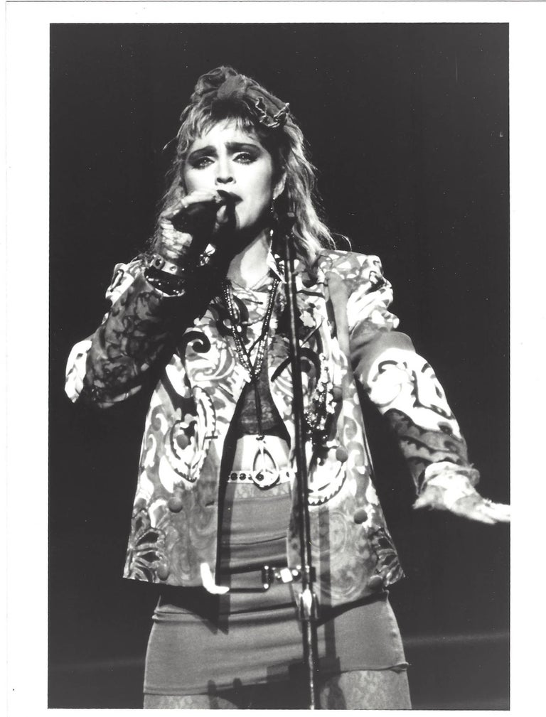 Madonna Singing into Mic Vintage Original Photograph