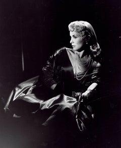 Janet Leigh Dramatic Portrait in Dress Fine Art Print