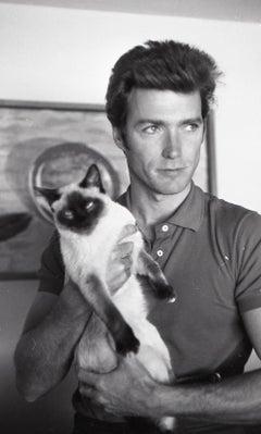 Clint Eastwood with Cat Fine Art Print
