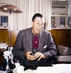 Walt Disney at His Desk Fine Art Print