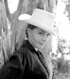 Kasey Rogers in White Cowboy Hat Fine Art Print