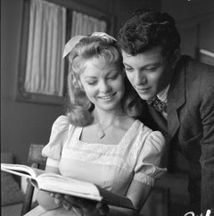 """Frankie Avalon and Alana Ladd in """"Guns of the Timberland"""" Fine Art Print"""