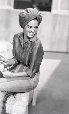 Natalie Wood Smiling with Headwrap Fine Art Print